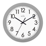 Office Wall Clock Silver UP21009