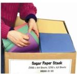 Sugar Paper Stack - 8 Colours 2500 X A4, 1250 X A3 Sheets