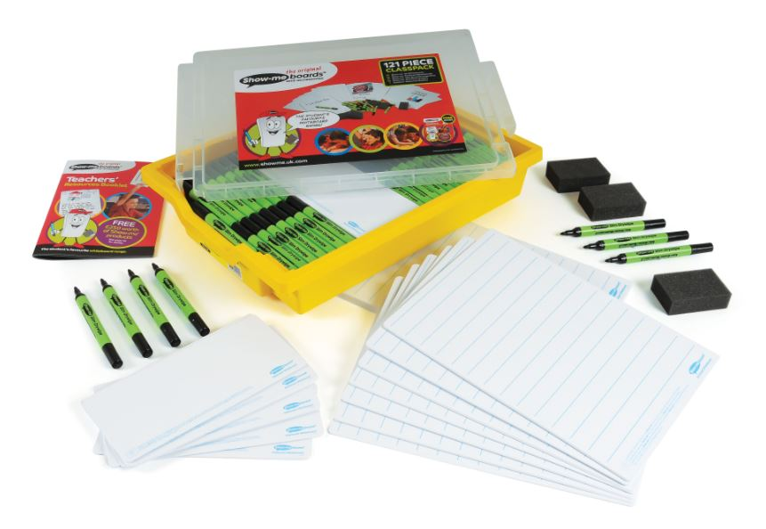 Show-me Class Pack Bulk Box Lined Boards/Pens/Ers