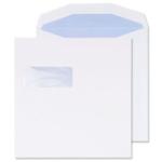 220 x 220 White Window gummed Envelope