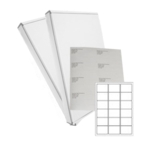 White Laser Labels 18/sheet 63.5 x 46.6mm