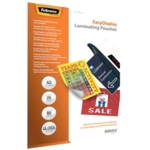 Fellowes EasyMove Adhesive Pouch A3 Pk25