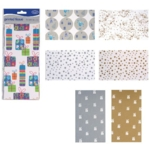 Printed Tissue Assorted Pk60