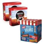Nescafe Orig 2x750g FOC Mini Breaks