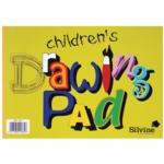 Silvine Childrens A4 Drawing Pad Pk12