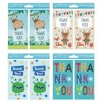 Thank You Cards Boy 4 Designs Pk192