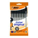 Bic Cristal Ballpoint Medium Black Pk10