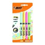 Bic Highlighter Grip Pastel Astd Pk4