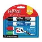 Berol Drywipe Marker Assorted Pk 48