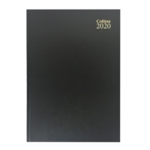 Collins A4 Diary 2 Pages Day 2020 Black
