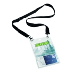 Durable Name Badge with Necklace Pk10
