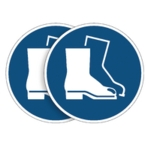 Durable Foot Protect Sign 5pk BOGOF