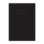 Education A4 Sketchbook Black Pk2 x25