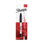 Sharpie Perm Markers Twin Tip Black Pk12