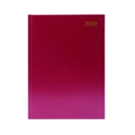 Burgundy Desk A4 Diary 2 Pages Day 2020