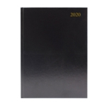 Black Desk A4 Diary 2 Pages Per Day 2020