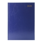Blue Desk A4 Diary 2 Pages Per Day 2020