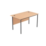 FF Jemini Oak 1228mm Single Desk