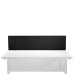 FF Jemini Black 1800mm Strt Desk Screen