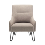 FF Jemini Grey Reception Armchair