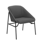 FF Jemini Grey Bistro Reception Armchair