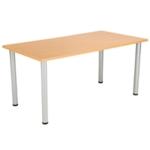 FF Jemini Beech 1200x800mm Rect Table
