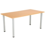 FF Jemini Beech 1600x800mm Rect Table