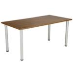 FF Jemini Walnut 1200x800mm Rect Table