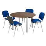 FF Jemini Walnut 1200mm Circ Table