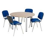 FF Jemini Gr Oak 1200mm Circ Table