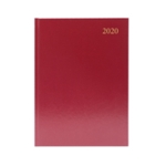 Burgundy A4 Desk Diary DPP Appt 2020