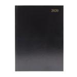 Black A4 Desk Diary 2 Days Per Page 2020