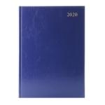 Blue A4 Desk Diary 2 Days Per Page 2020