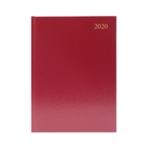 Burgundy A4 Desk Diary WTV 2020
