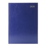 Blue A4 Desk Diary WTV 2020