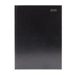 Black A5 Desk Diary 2 Days Per Page 2020