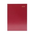 Burgundy A5 Desk Diary WTV 2020