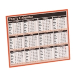 Year To View Calendar 257x210mm 2020