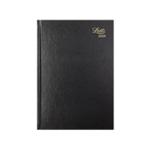 Letts 11X Black A5 DPP Diary 2020