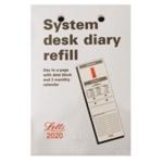 Letts System Desk Calendar Refill 2020