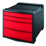 Rexel Choices Drawer Cabinet Red