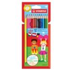 STABILO Color 12 Colour Pencils Assd 6PK