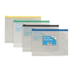 Sundry Plastic A5 Coloured Zip Bags Pk12