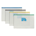 Sundry Plastic A4 Coloured Zip Bags Pk12