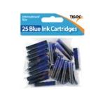 25 Blue Ink Cartridges Pk300