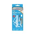 9 Piece Maths Set Tin Pk12