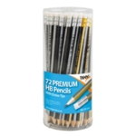 Tiger HB Eraser Tip Pencils Pot Ast Pk72