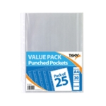 A4 Punched Pockets Pack of 375