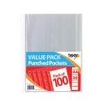 A4 Punched Pockets Pk1000