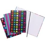 A4 Fashion Casebound Notebook Astd Pk5